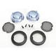 Gloss Black Mesh Bullet Turn Signal Lens Bezel w/Smoke Lens - 6545