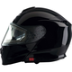 Black Solaris Modular Snow Helmet w/Electric Shield