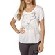 Women's White Responded V-Neck T-Shirt