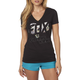 Women's Black Fracture V-Neck T-Shirt