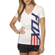 Women's White Red, White And True V-Neck T-Shirt