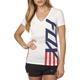 Women's White Red, White And True V-Neck T-Shirt
