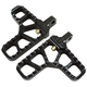 Black Heel Serrated Footpegs - 08-62-5B