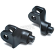 Satin Black Front Splined Peg Adapters - 8874
