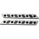 Black/Silver Techno Saddlebag Latch Inserts - 04-505-2