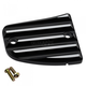 Black/Silver Finned Front Master Cylinder Cover - 30-380-2