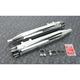Chrome Deep Cut Slip-On Mufflers w/Black End Cap - 7200405