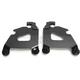 Black Trigger Lock Mounting Kit for Cafe Fairing  - MEB2025