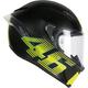 Matte Black/Yellow Corsa V46 R Helmet