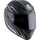 Matte Black/White Veloce-8 S Helmet