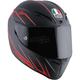 Matte Black/Red Veloce-9 S Helmet