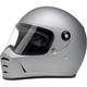 Flat Silver Lane Splitter Helmet