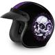 Floral Skull 3/4 Cruiser Helmet