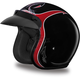 Pinned Black Cherry 3/4 Cruiser Helmet