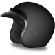 Dull Black 3/4 Cruiser Helmet