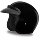 Gloss Black 3/4 Cruiser Helmet