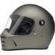 Flat Titanium Lane Splitter Helmet
