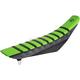 Black/Green/Black Pro Rib Kevlar Seat Cover - 25506