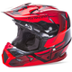 Youth Red/Black Toxin Helmet