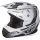 Youth Matte White/Black Toxin Helmet