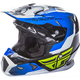 Youth Blue/Black/White Toxin Helmet