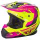 Youth Hi Vis/Pink Toxin Helmet