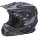 Youth Matte Black/Gray Toxin Helmet