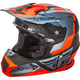 Youth Matte Orange/Black/Gray Toxin Helmet