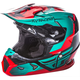 Youth Red/Teal/Black Toxin Helmet
