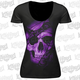 Women's Black Lace Skull T-Shirt