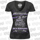 Womens Black Motorcycle Over Diamonds T-Shirt
