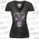 Womens Black Heart Breaker T-Shirt