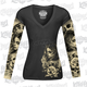 Womens Long Sleeve Love N Death Tattoo Sleeve Shirt