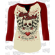 Womens Hard to Catch Raglan Sleeve Shirt