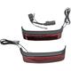HD Bagz Black Saddlebag Lights w/Red Lens for H-D OE Saddlebags - CS-SB-SS6-BR