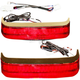 HD Bagz Chrome Saddlebag Lights w/Red Lens for H-D CVO Models w/OE Saddlebags - CS-SB-SS8-CR