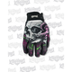 Womens Floral Skull Gloves