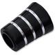 Black/Silver Grooved Heel Shifter Eliminator - FL227-TGN