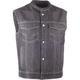 Black Club Collar Iron Sights Denim Vest