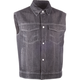 Black Traditional Collar Iron Sights Denim Vest