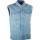 Blue Traditional Collar Iron Sights Denim Vest