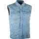 Blue Traditional Collar Iron Sights Denim Vest