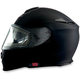 Flat Black Solaris Modular Helmet w/Electric Face Shield