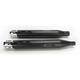 Black 4 in. Slip-On Mufflers Chrome Slot End Caps - 500-0107C-SLOT