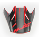 Semi-Flat Black/Red/Blue Visor for HJC FG-MX Axis MC-1SF Helmets - 360-719