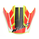 Hi-Viz Semi-Flat Yellow/Red Visor for HJC FG-MX Axis MC-3HSF Helmets - 360-739