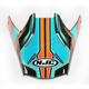 Blue/Orange Visor for HJC FG-MX Piston MC-4 Helmets - 362-949