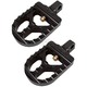 Black Short Serrated Foot Pegs - 08-57-5B