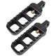 Black Narrow Serrated Footpegs - 08-61-5B