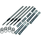Quickee Adjustable Pushrods w/Cover Keepers - 930-0123